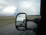 Crazy Mountains in the rear view mirror