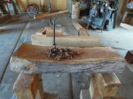 Walnut chair chips and auger
